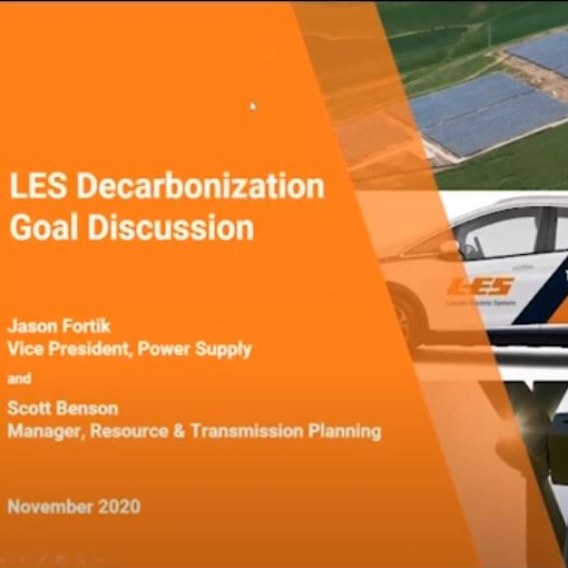 Video banner: Decarbonization goal virtual public meeting